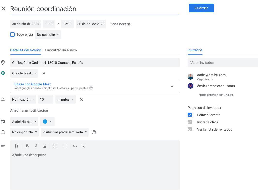 reunión google meet